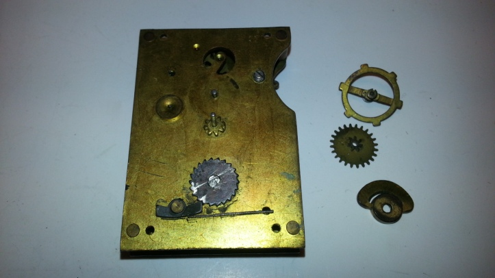 Winding knob and gears