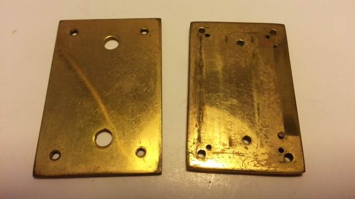 Antique Brass Clock Pieces