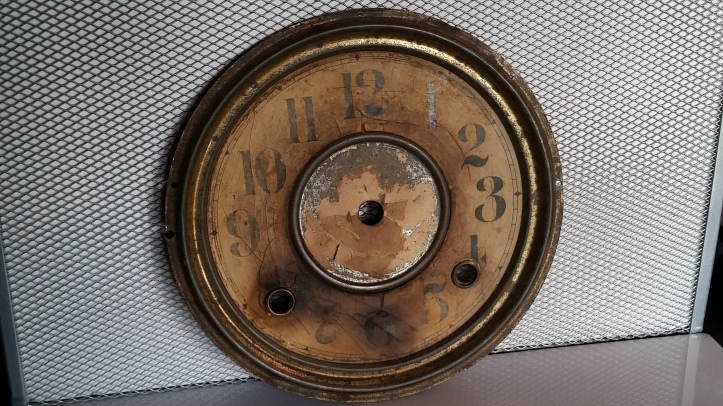 Black Mantel Clock Dial