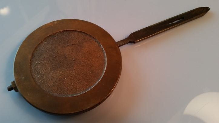 Solid brass disc clock pendulum