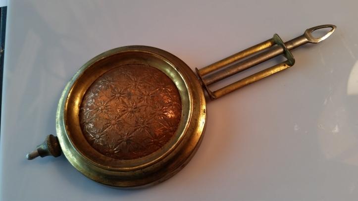 Gilbert brass mantel clock pendulum