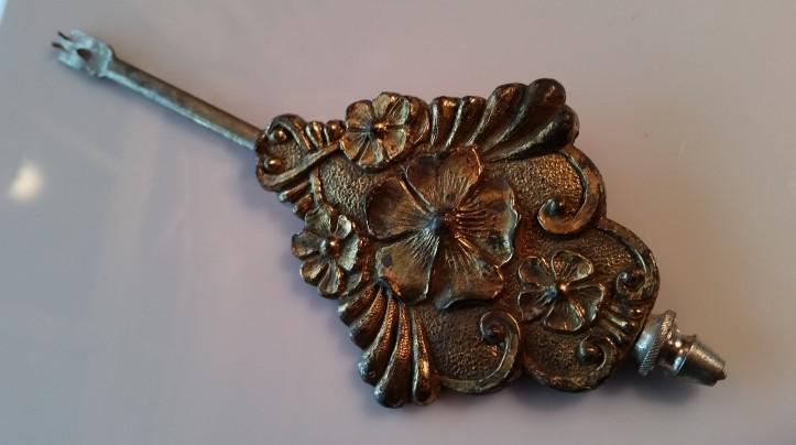 Antique gingerbread mantel clock pendulum