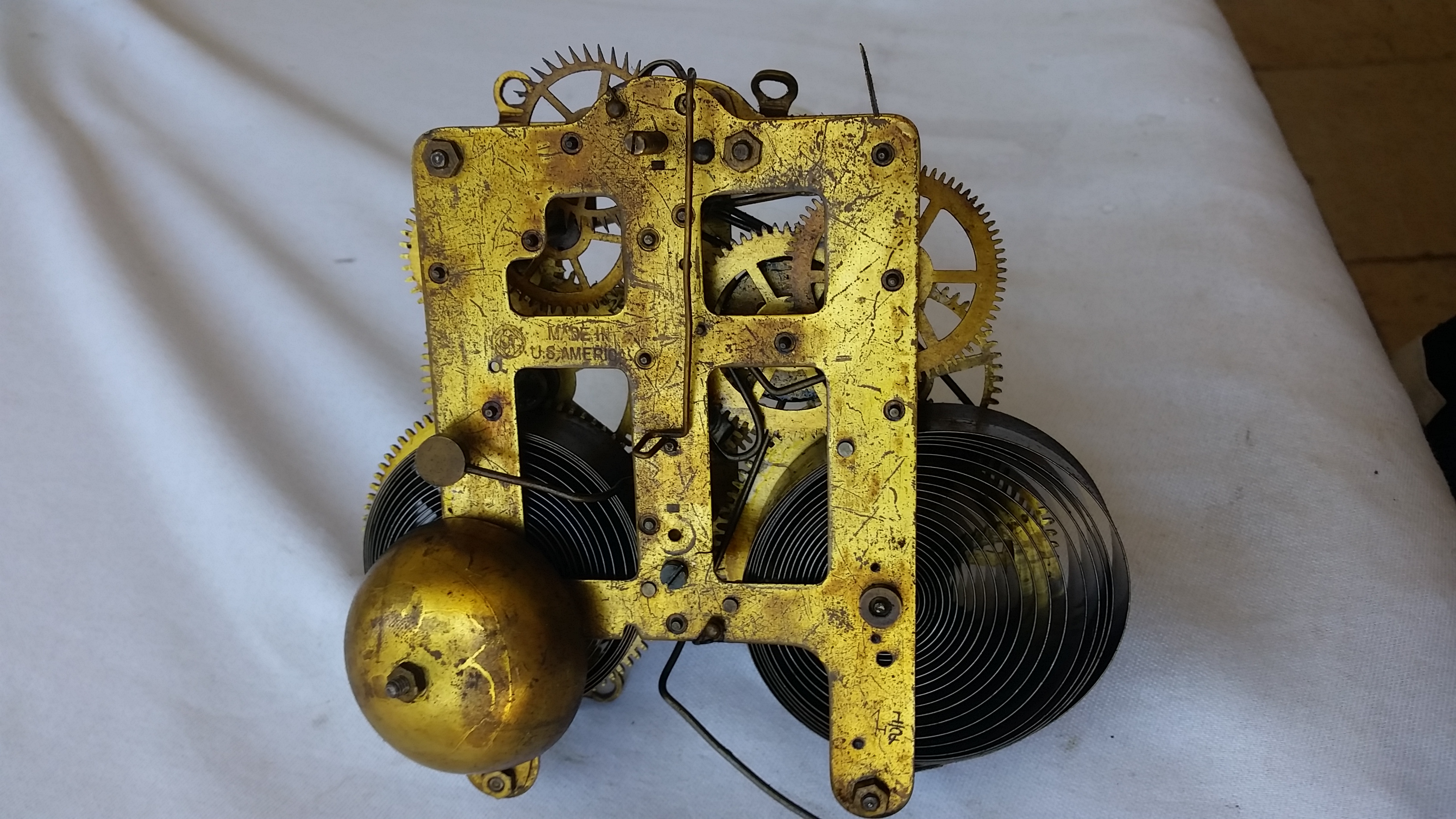 Mantel Clock Movements From American Black Adamantine Style From