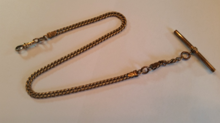 Victorian Pocket Watch Chain with T-Bar