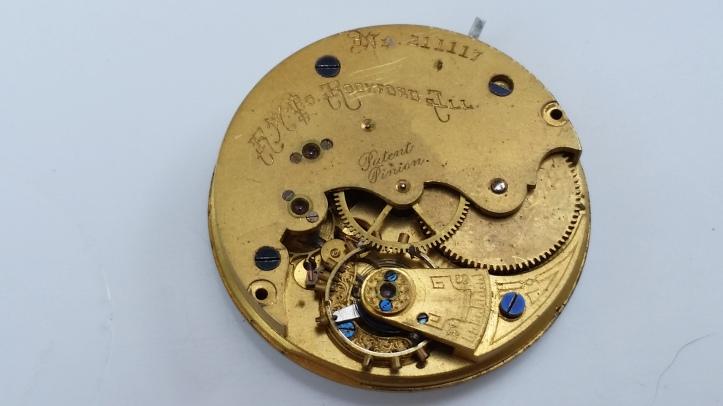 Rockford Gilt Pocket Watch Movement