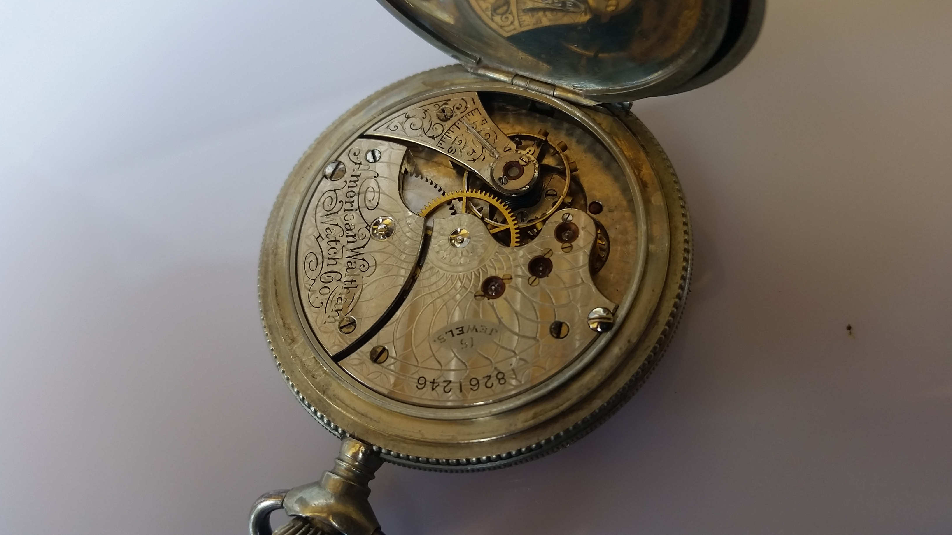 Waltham Pocket Watch Movements Antique For Parts Or Repair