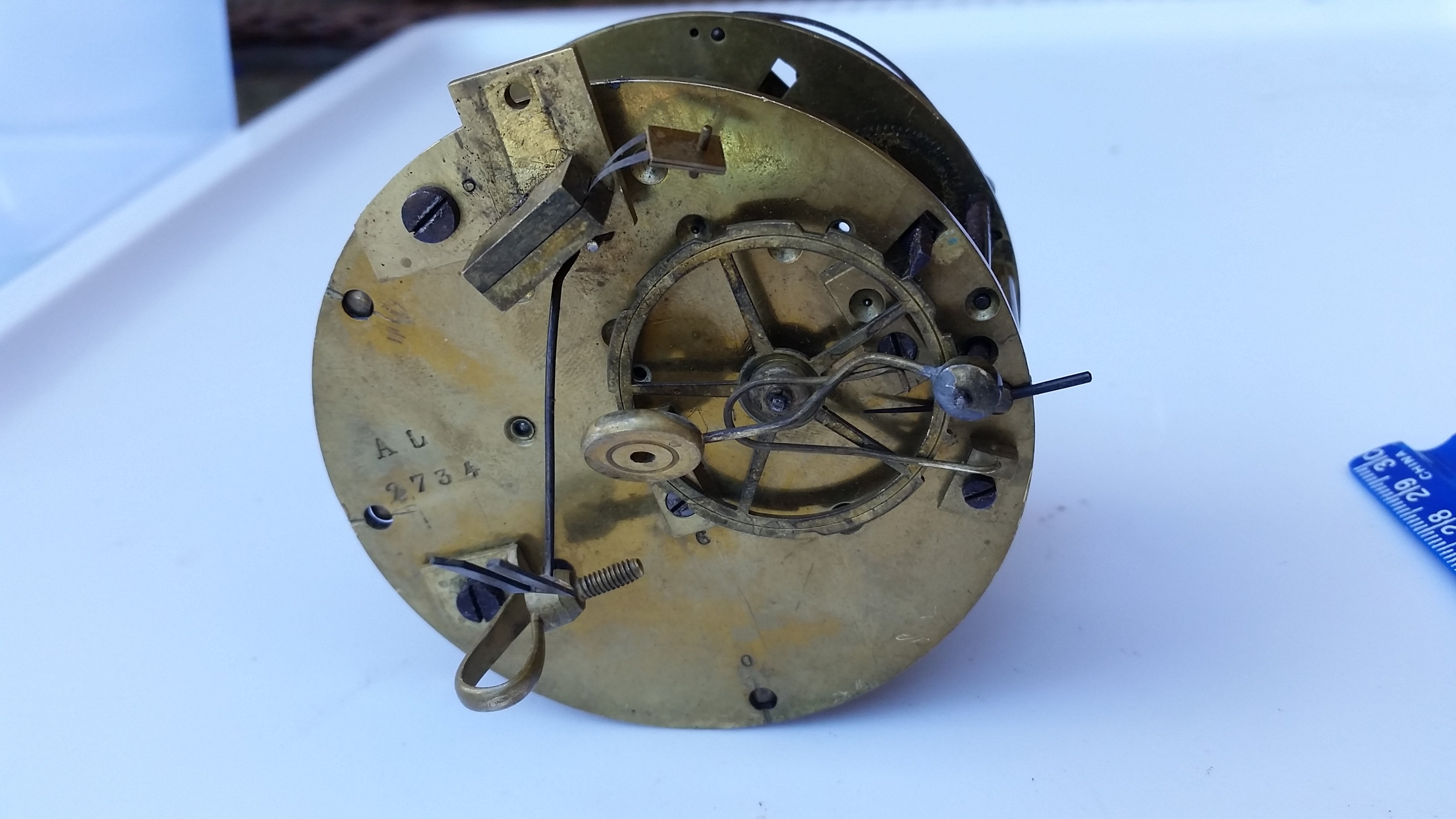 French Mantel Clock Movements Open Escapement Japy Freres