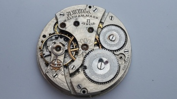 Waltham pocket watch movement 17 Jewel