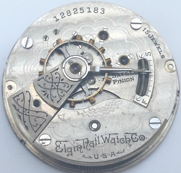 Elgin Pocket Watch Movement size 18s 15 jewel
