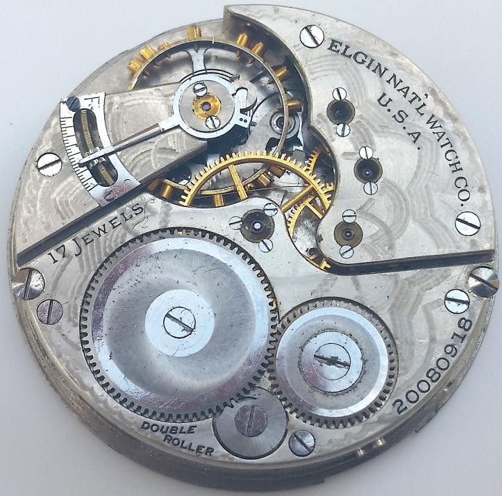 Elgin 17 jewel pocket watch movement