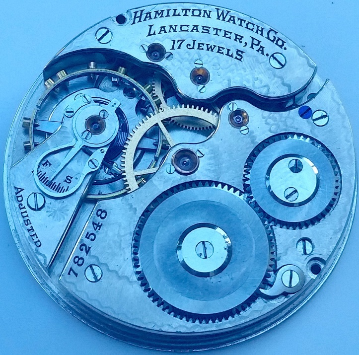 Hamilton 17 jewel pocket watch movement