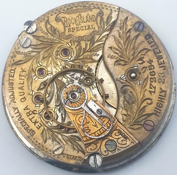 Rock Island Special 23 Jewel Swiss Fake Pocket Watch