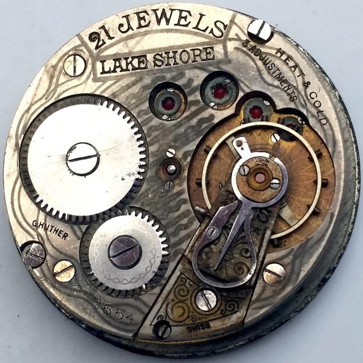 Lake Shore Swiss Fake Pocket Watch 21 Jewel Movement