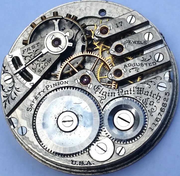 Elgin Antique Pocket Watch 17 Jewel Movement 16s Model 6