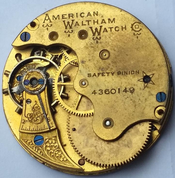 Waltham Antique Pocket Watch Movement