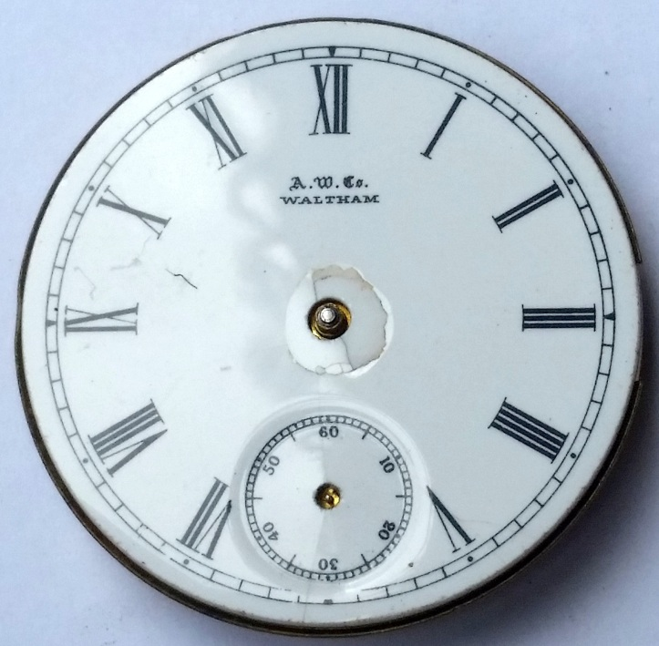 Waltham Antique Pocket Watch Dial