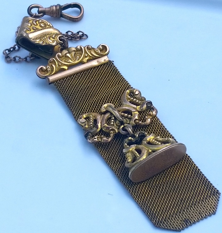Gold FIlled Mesh Victorian Pocket Watch Chain
