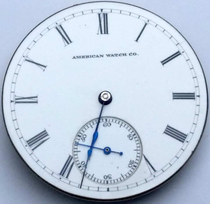 WM Ellery Waltham Antique Pocket Watch Dial