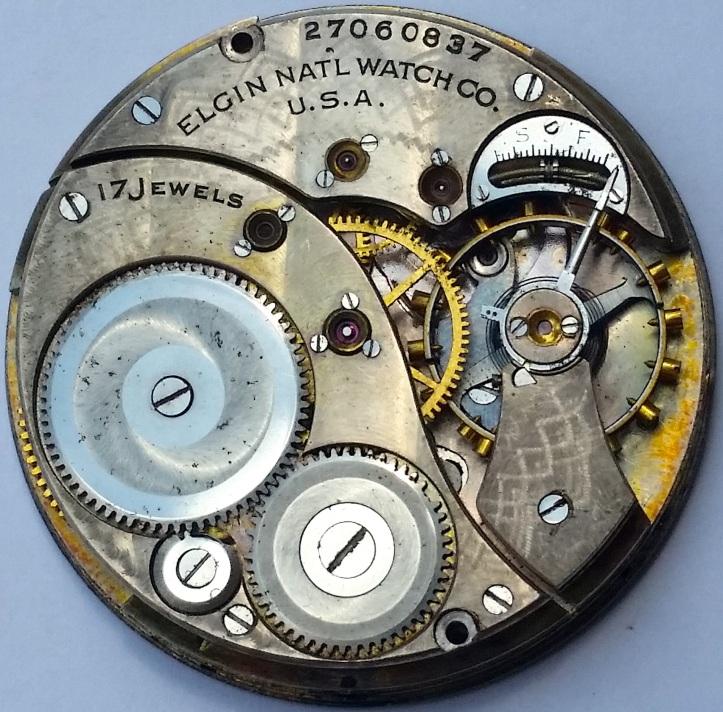 Elgin Antique Pocket Watch 17 Jewels