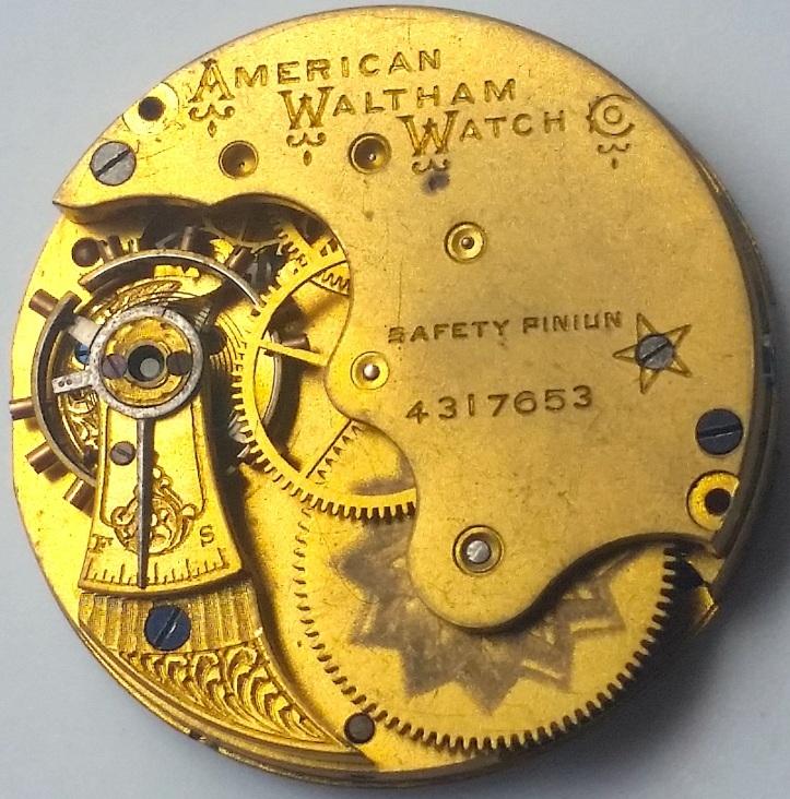 Waltham Pocket Watch Seaside Grade J Movement