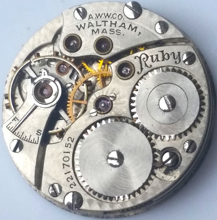 Waltham Ruby Pocket Watch Movement