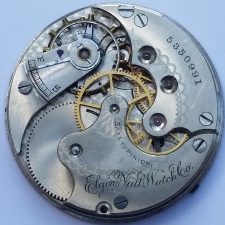 Elgin 11 Jewel Pocket Watch Movement