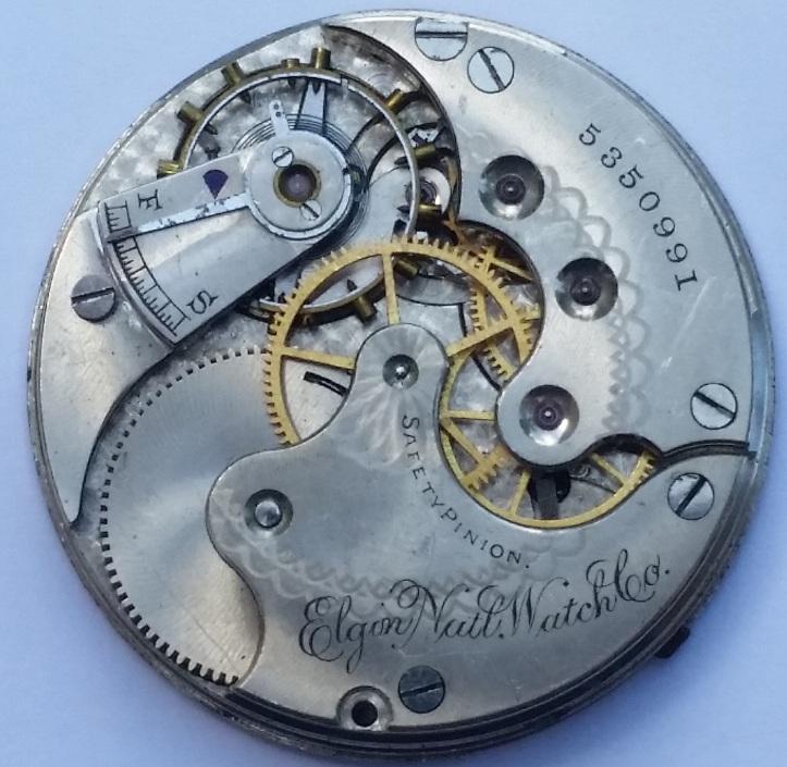 Elgin 11 Jewel Pocket Watch Movement