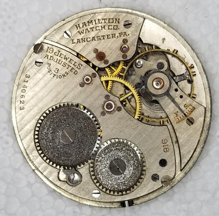 Hamilton 918 Pocket Watch Movement