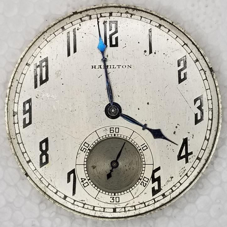 Hamilton Pocket Watch Dial