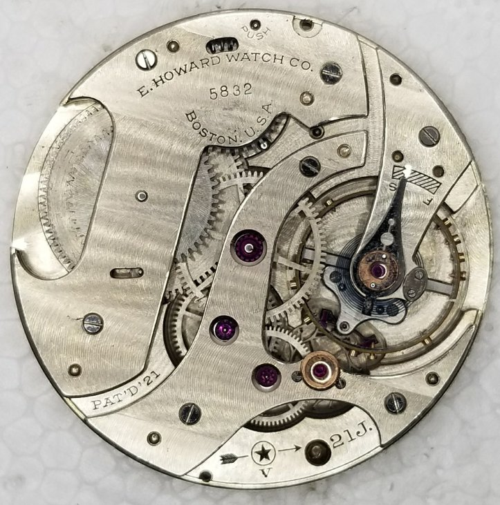 Howard 10s 21j Pocket Watch Movement