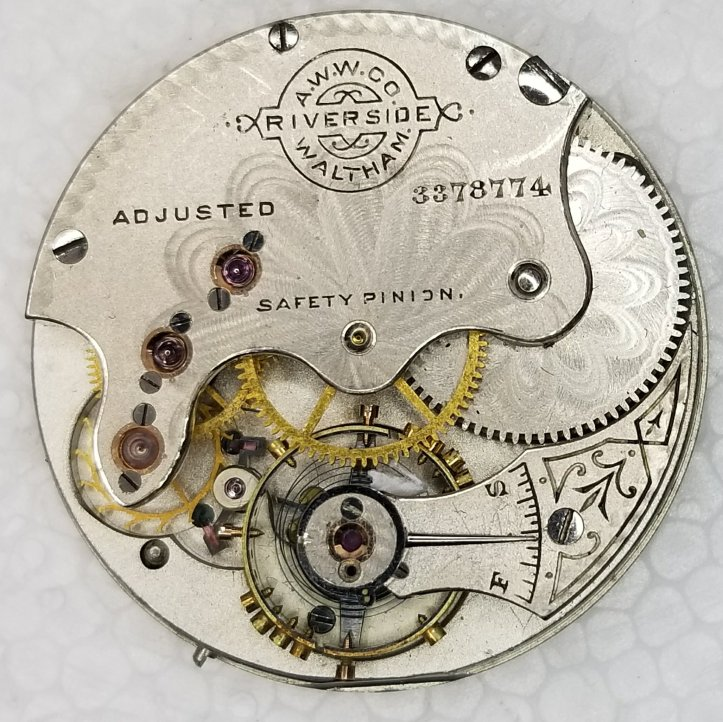 Waltham Riverside Pocket Watch Movement