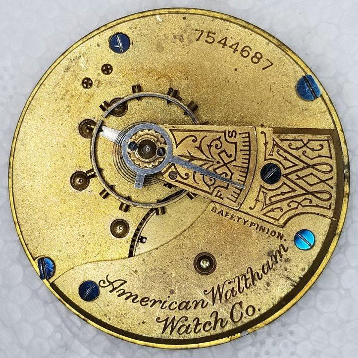 Waltham Grade 1 Pocket Watch Movement Size 18s