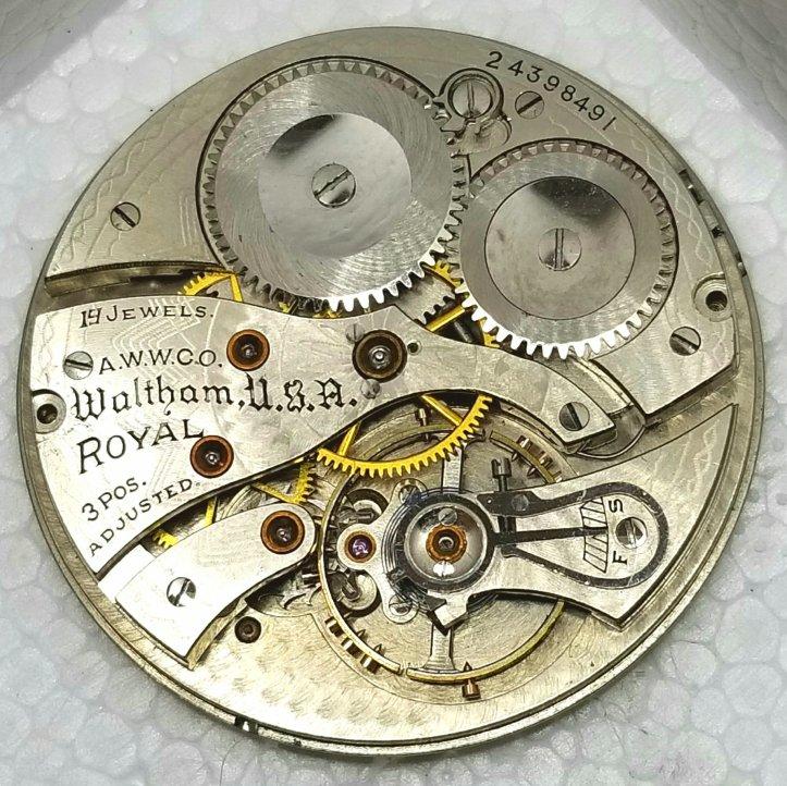 Waltham Royal Grade 6.5L Pocket Watch Movement