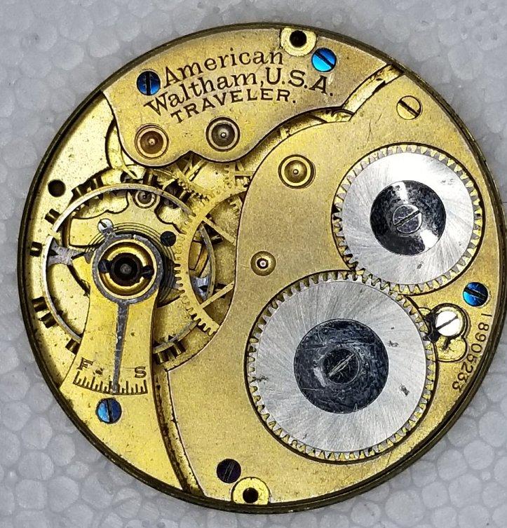 Waltham Traveler 16s Pocket Watch Movement