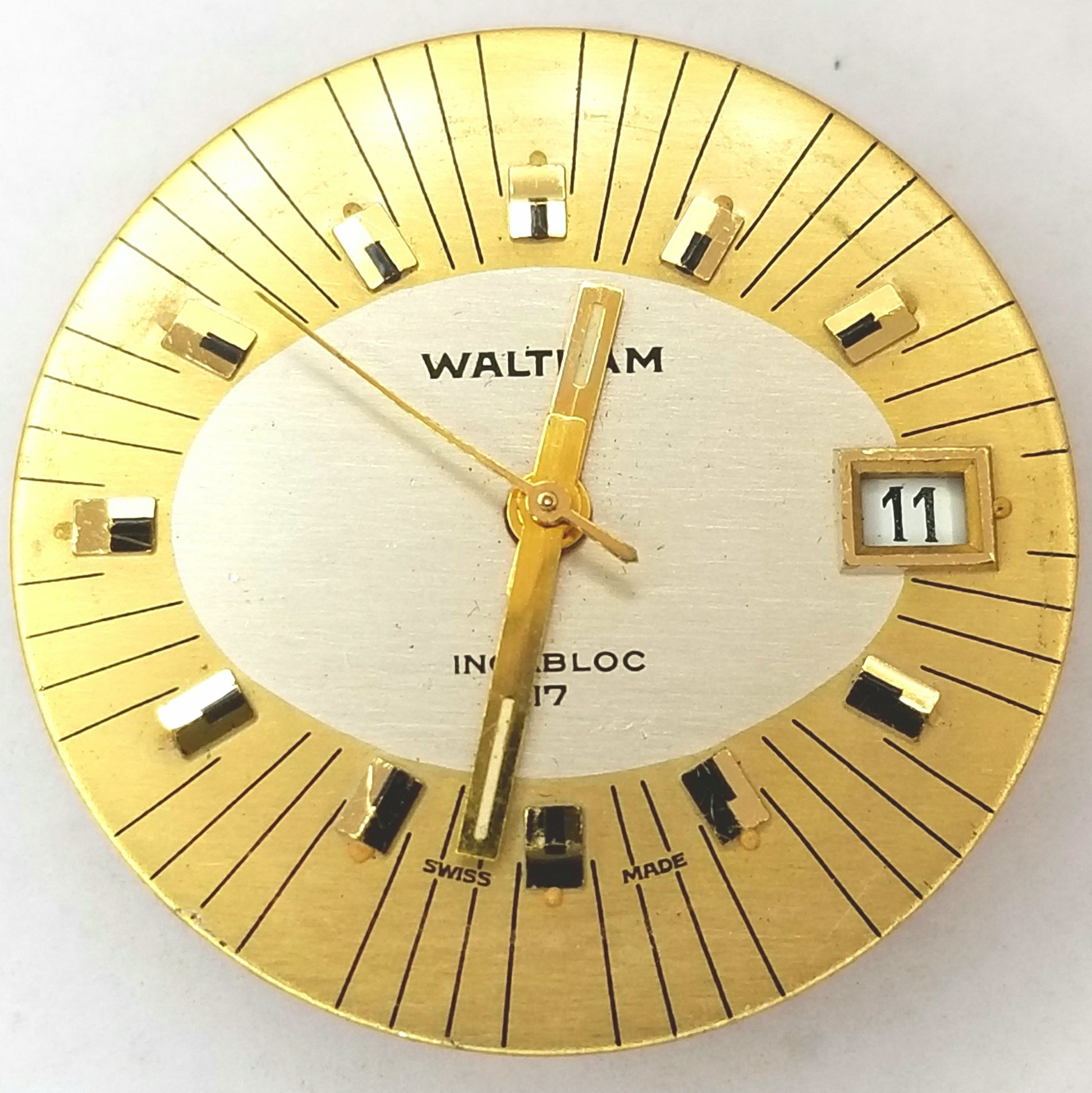 Waltham Vintage Calendar Watch SGT140-1A 17 jewel Movement | Spare ...