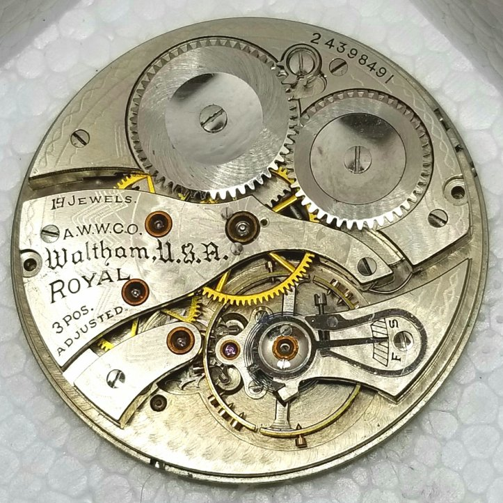 American Waltham Watch Co Royal Grade Movement