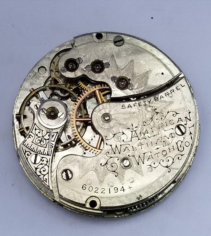 Waltham Pocket Watch Movement Grade No. 66