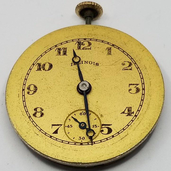 Illinois 6/0s Pocket Watch Movement