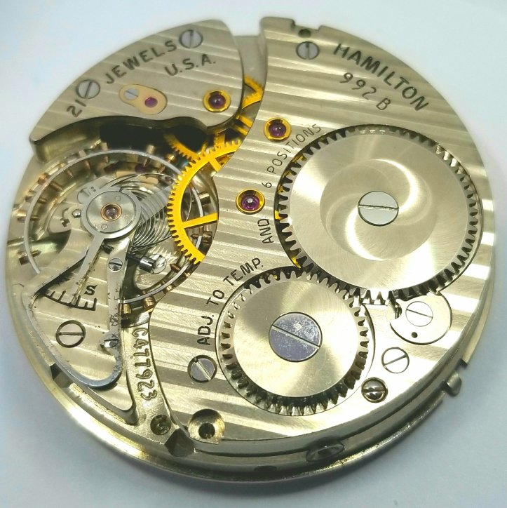 Hamilton 992B 21 Jewel Pocket Watch Movement