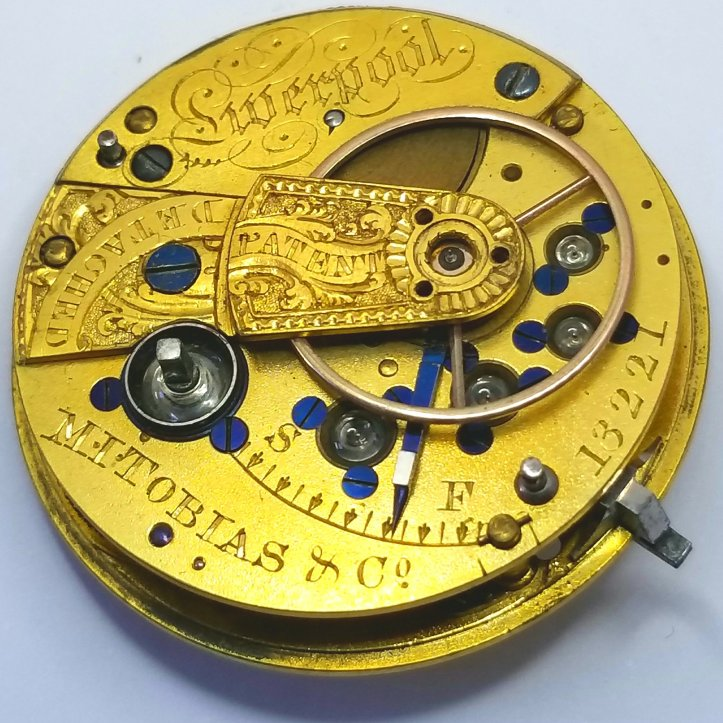 M.I. Tobias Fusee Pocket Watch Movement