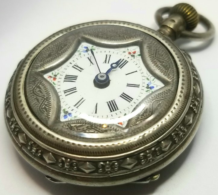 EB Jacot Locle .800 solid silver case.