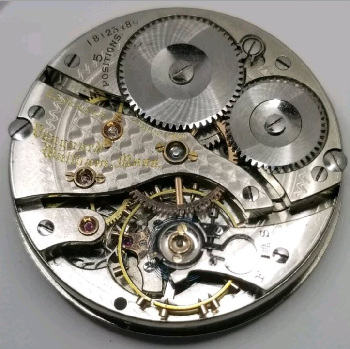 Waltham Vanguard 23 Jewel Pocket Watch Movement 16s Openface