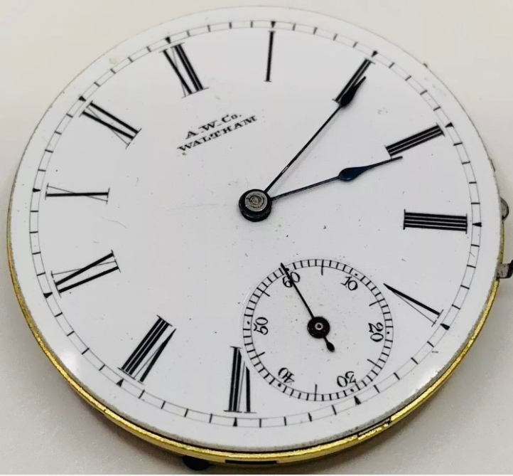 Waltham William Ellery Pocket Watch Movement
