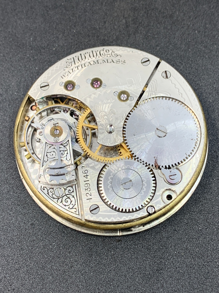 Waltham 1888 model pocket watch movement