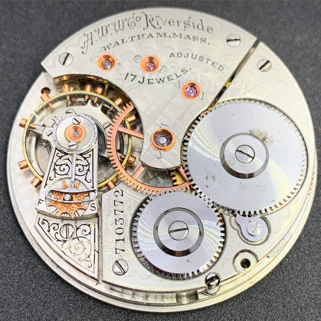 Waltham Riverside 1888 Pocket Watch movement