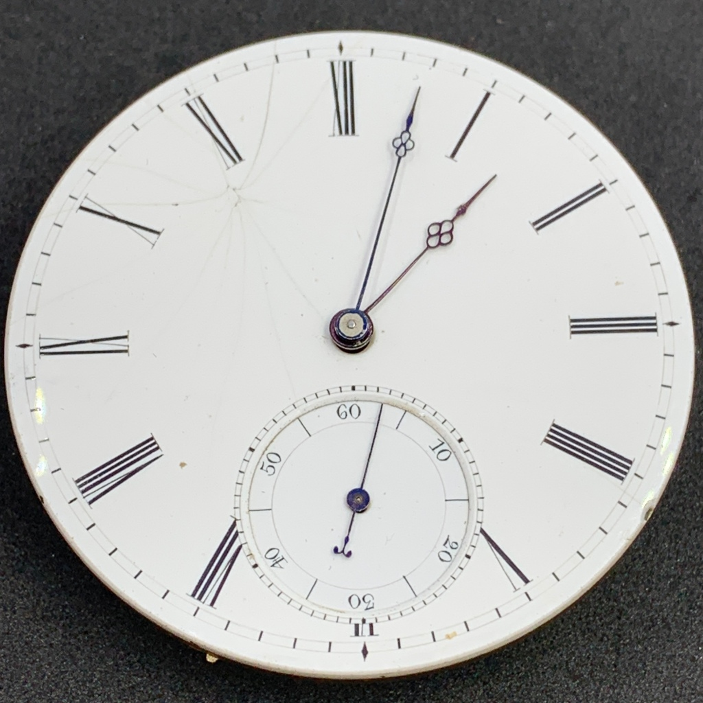 Antique pocket watch movement